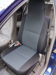 get ations mazda mx5 charcoal grey with blue piping 2 front seat covers
