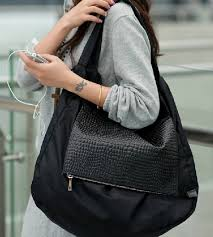hobo bag black leather shoulder bag
