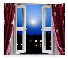 open window at night. Fine Open Night Fleece Blanket Featuring The Photograph Open Window At By Simon  Bratt Photography LRPS On Y