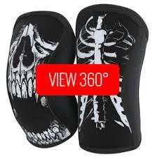 Rocktape Knee Sleeve Size Chart Assassins Knee Sleeves Skull Rocktape