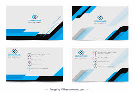 Namecard Format Name Card Template Modern Simple Blue White Decor Free