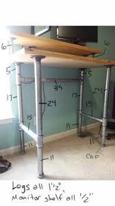 diy standing desk pipe. Simple Standing Pipe And Plank Standing Desk With Diy Standing Desk Pipe S
