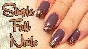 Jednoduché Jesenné Nechty Simple Fall Nails By Sonicka Glammy