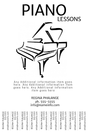 Flyer Templates With Tear Off Tabs Piano Lessons Tear Off Tabs Flyer Template Poster Printable