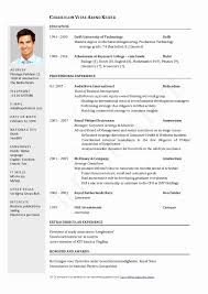 Technical Resume Format Doc Fresh 50 Beautiful Driver Resume Format