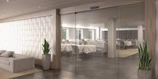 assa abloy sl500 t sliding door system in hospitality