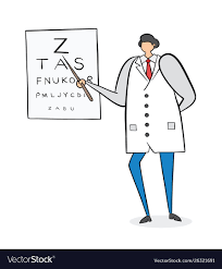 Ophthalmologist Showing Letters On Eye Chart