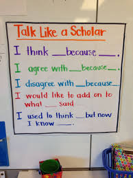 Kinder Habits Of Discussion Accountable Talk Anchor