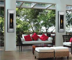 wall mounted fireplace outdoor gas