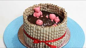 Pigs In Mud Cake Cake Idea For Kids Party By Barnaliskitchen Youtube