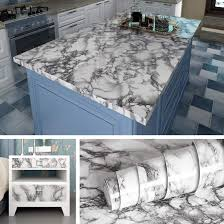 Livelynine Marble Wall Paper Kitchen ...