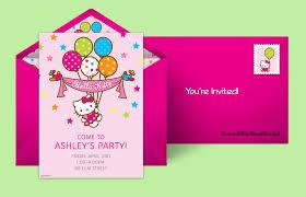 invitations to birthday party free hello kitty invitations hello kitty online invitations punchbowl