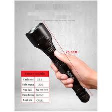 Đèn pin siêu sáng 4 cấp độ 20000LM có thể sạc lại pin 18650, Đèn pin sạc  điện, chống nước bảo hành 6 tháng