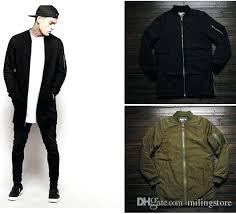 tall mens winter jackets big and fashion clothing black olive green flight long er jacket men