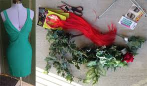 diy costume poison ivy materials