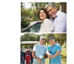 golfing hugging contact your aaa life insurance agent