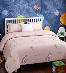 pink cotton kids unicorn print