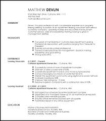 Leasing Manager Resume Sample Example Good Resume Template SlideShare