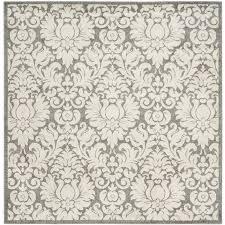 safavieh mirabel dark gray beige square indoor outdoor nature area rug common