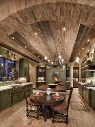 Old World Kitchen Photos Hgtv Spacious Old World Kitchen With Curved Brick Ceiling