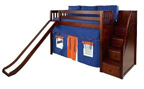 bunk bed with slide and desk. Twin Loft Bed With Slide Beds Slides Bunk And Stairs  Mid Desk