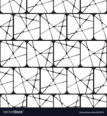 Black And White Patterns Awesome Black White Abstract Geometric Seamless Pattern Vector Image