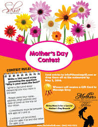salsa grill hosts mother s day essay contest