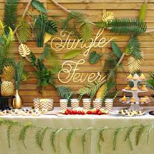 Jungle Party - Sweet table sur le thème de la jungle lorsque la ...