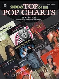 2003 Charts 2003 Top Of The Pop Charts 25 Hit Singles Piano Dan