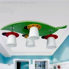 modern kids lighting. Modern Green Leaf And Ladybird Kids Room Ceiling Lights | Kids-lamp.com Lighting N