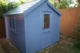 contemporary shed finished with sadolin superdec in wild g