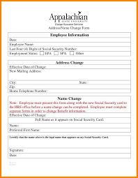 Social Security Change Of Address Form 24 Employee Change Of Address Form Template It Cover Letter 23