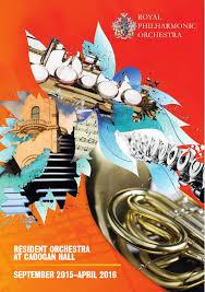 Rpo Cadogan Hall September 2015 April 2016 Brochure By Royal