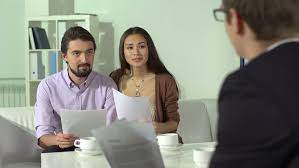 Married Couple Consulting With Their Stock Footage Video 100 Royalty Free 5089367 Shutterstock