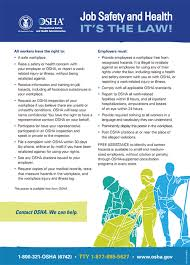Healthcare Administration Job Description Amazing OSHA's Workplace Poster English Version Publication 44