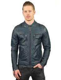 leather jackets men blue biker model tr36b versano
