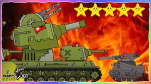 Chơi game bắn xe tăng Quái vật - Trận đấu Кв-6 vs Leviathan #19   Phim hoạt  hình về xe tăng