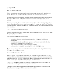 What To Put In Objective On Resume Resume Work Template