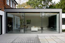 minimal windows as modern patio doors in london