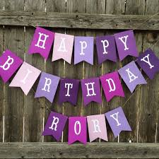 happy birthday banners personalized purple happy birthday banner personalized birthday banner