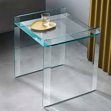 quiller glass small lamp table