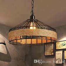 Pendant lighting for restaurants Outdoor Rope Pendant Light Rustic Chandeliers Lisacintosh Rope Pendant Light Vintage Country Iron Lights Restaurant Lamp