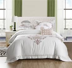 ivarose egyptian cotton bed linen high thread count satin bedding sets bedspreads white duvet cover set embroidery 28 duvet king size plaid duvet cover from