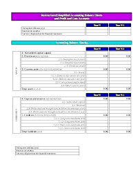 Example Classified Balance Sheet Classified Balance Sheet Template Excel