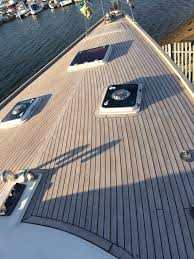 Exterior Synthetic Boat Flooring Houseboat Composite Decking - Exterior decking materials
