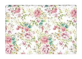 pink outdoor rug floor mat pink vintage flower rose shivering print non slip rugs carpets for