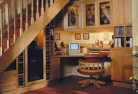 office under stairs. adventurous office under stairs