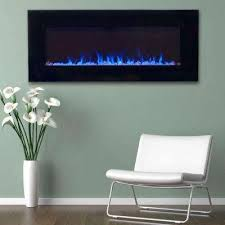 led fire and ice electric fireplace with remote in black