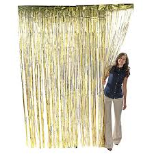 3 x8 gold foil metallic fringe curtain backdrop party decoration wall hanging tinsel dinner hanukkah new year s eve