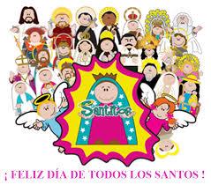 Resultado de imagen de todos los santos de la iglesia catolica infantil
